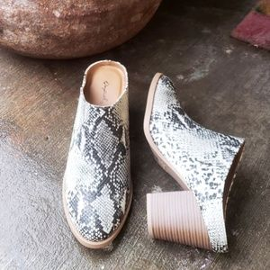 Shoes - 🆕️//The Coachella Collection// Snake print mule